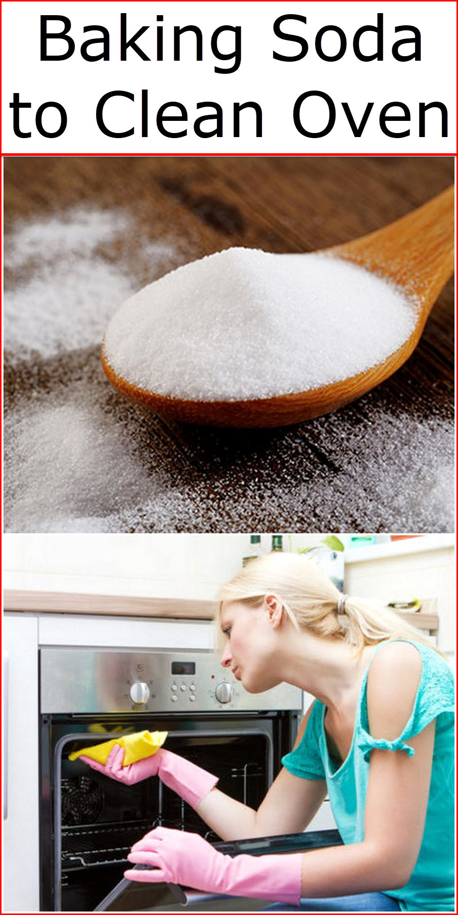 Baking Soda to Clean Oven